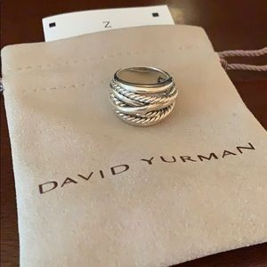 David Yurman Crossover Ring Size 6